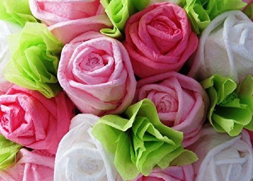 Fleurs de bricolage à partir de serviettes (80 photos)