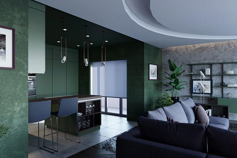 Appartement intérieur pivoine et suède rougit - photo 2