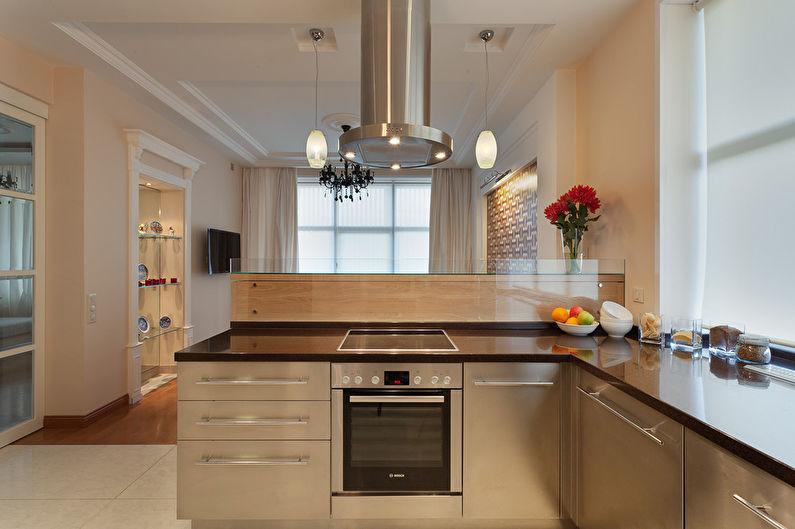 Cuisine-salle à manger dans le style du minimalisme - photo 1