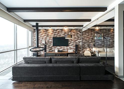 L'intérieur de l'appartement dans le complexe résidentiel