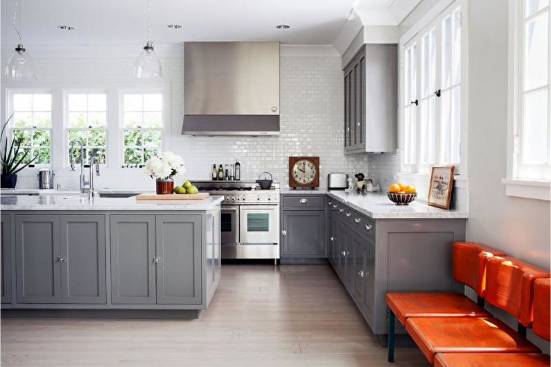 Gray Kitchen In The Interior 80 Photos Ideas For Color Combinations Kitchen Design In Gray Tones
