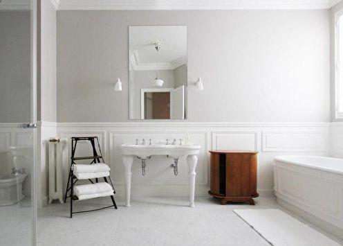 Salle de bain blanche: 65 idées de design