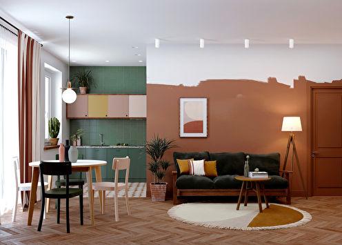 Intérieur de l'appartement motif ethnique