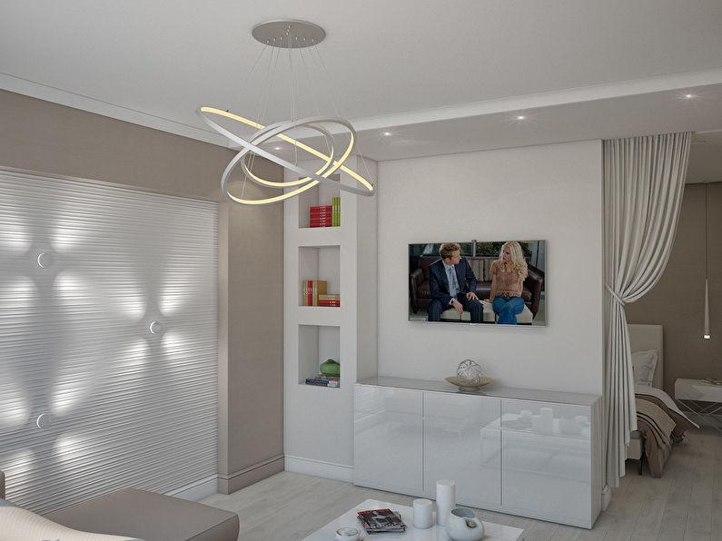 L'appartement est dans un style moderne, 40 m². - photo 1