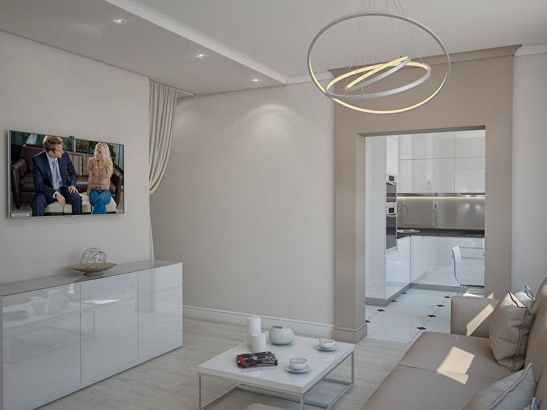 L'appartement est dans un style moderne, 40 m². - photo 2