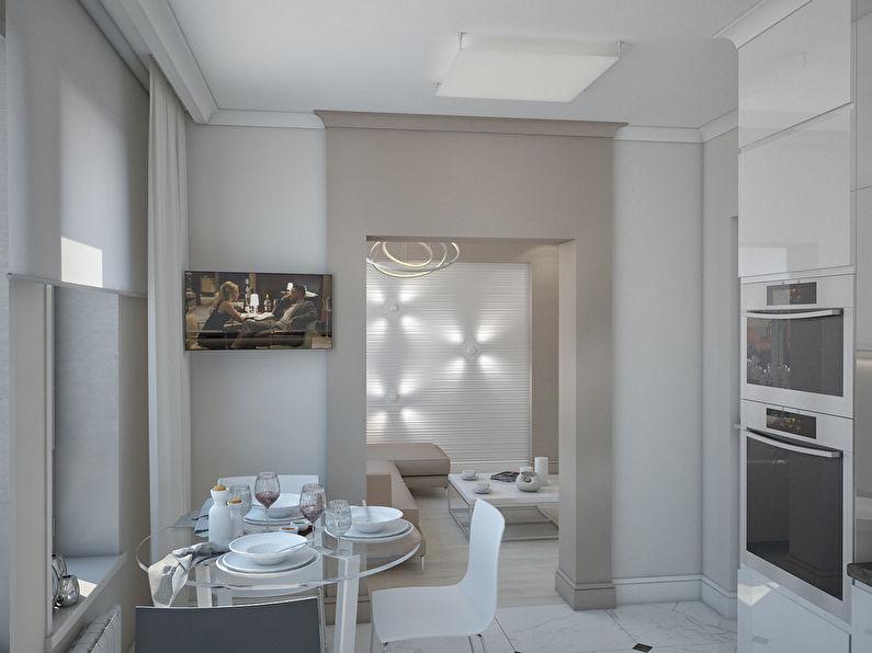 L'appartement est dans un style moderne, 40 m². - photo 3