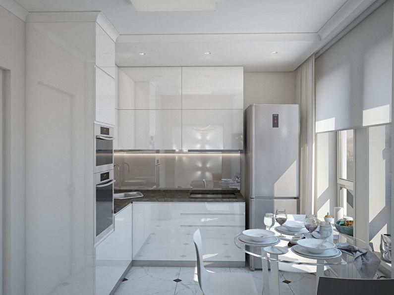 L'appartement est dans un style moderne, 40 m². - photo 5