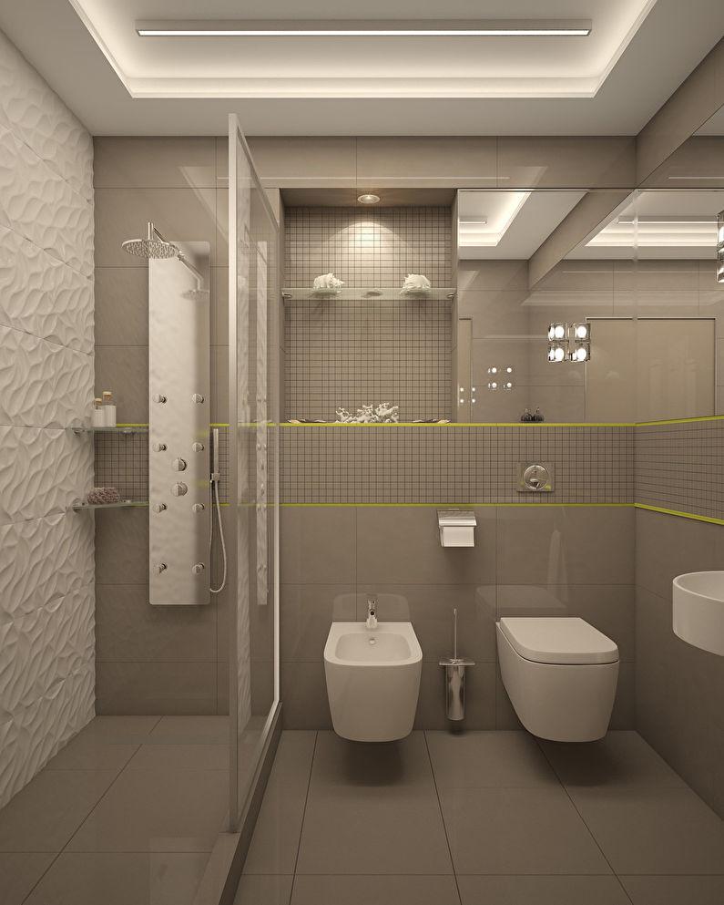 L'appartement est dans un style moderne, 40 m². - photo 9
