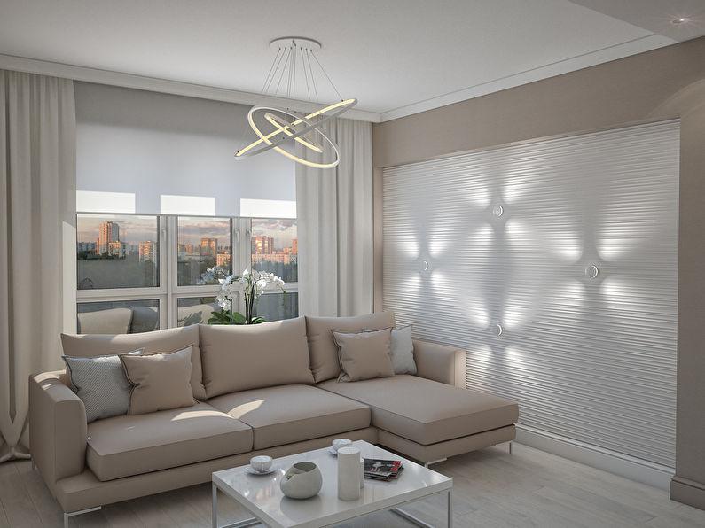 L'appartement est dans un style moderne, 40 m².