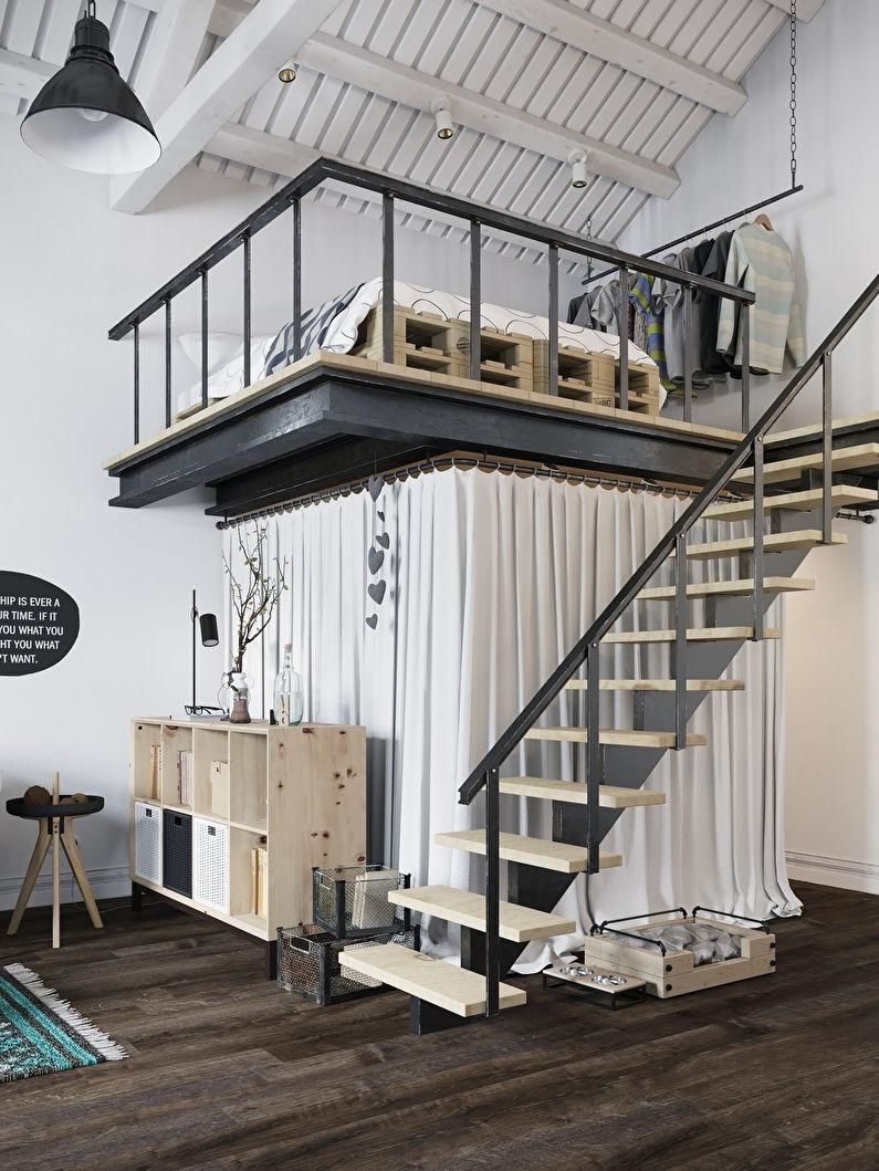 Appartement style loft scandinave - photo 4