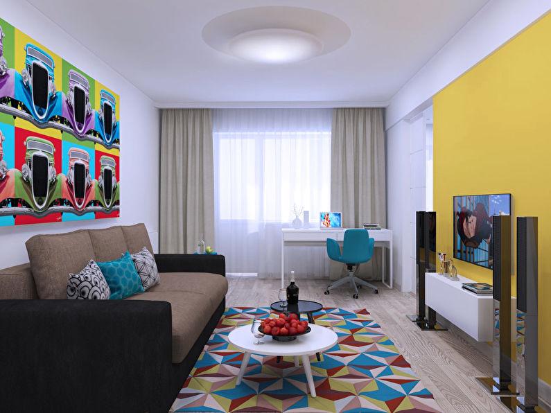 L'Invasion du Pop Art: Appartement 46 m2