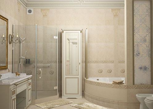 Salle de bain de style classique, 11 m2