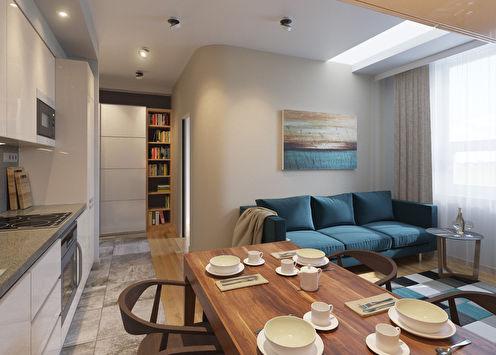 Appartement sur le passage Staropetrovsky, 40 m2
