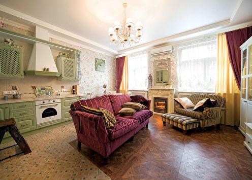 Intérieur de l'appartement de style Provence