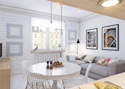 Conception d'un petit appartement, 25 m²