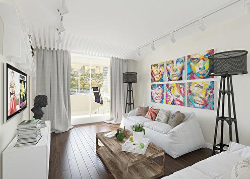 Dialogue des contrastes: Appartement 57 m2
