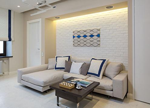 Le jeu du minimalisme: intérieur du salon