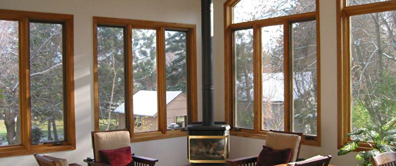 Les avantages des fenêtres en bois à double vitrage