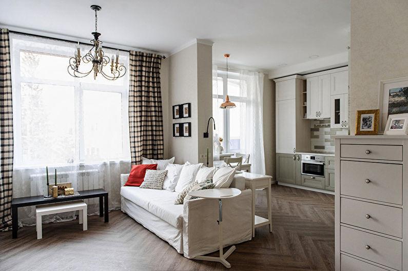 Intérieur d'un petit appartement à Novossibirsk