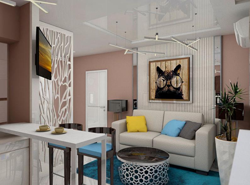 Le projet de l'appartement est de 38 m².