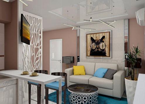 Projekt stana je 38 m2.