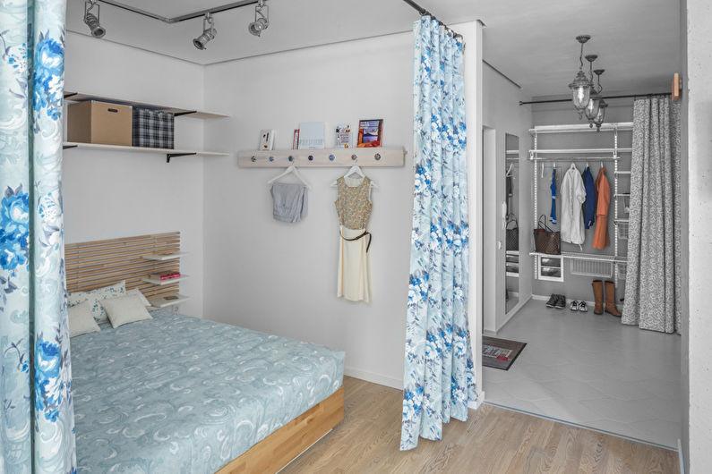 Conception d'un studio d'une pièce de 40 m² à Kiev