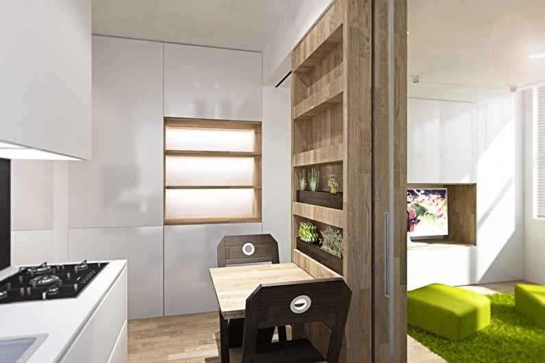 Appartement transformable d'une pièce de 40 m². - Design d'intérieur
