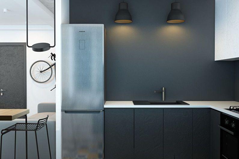 Conception de cuisine 6 m² style minimaliste
