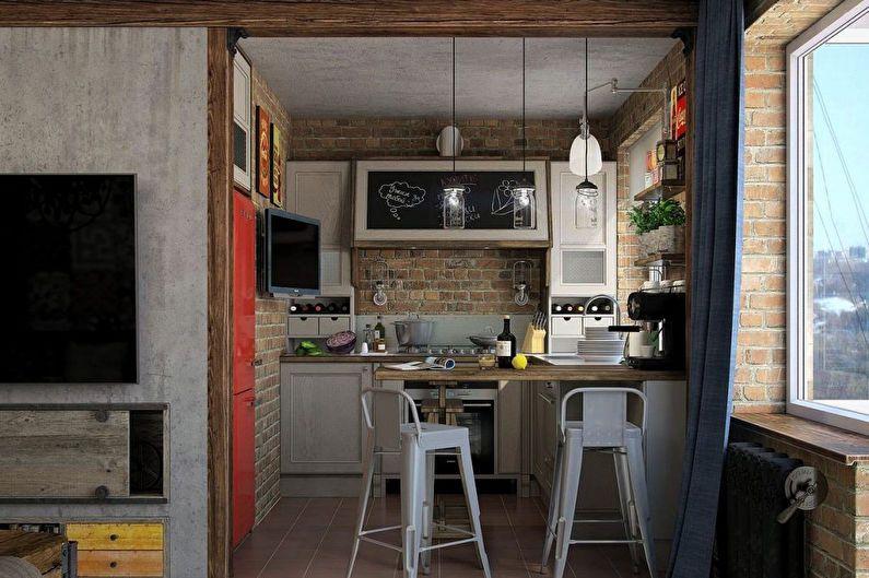 Conception de cuisine 6 m² style loft