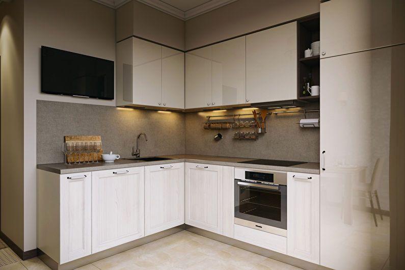 Cuisine blanche 6 m2 - Design d'intérieur