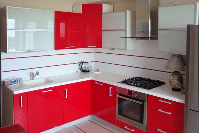 Cuisine rouge 6 m2 - Design d'intérieur