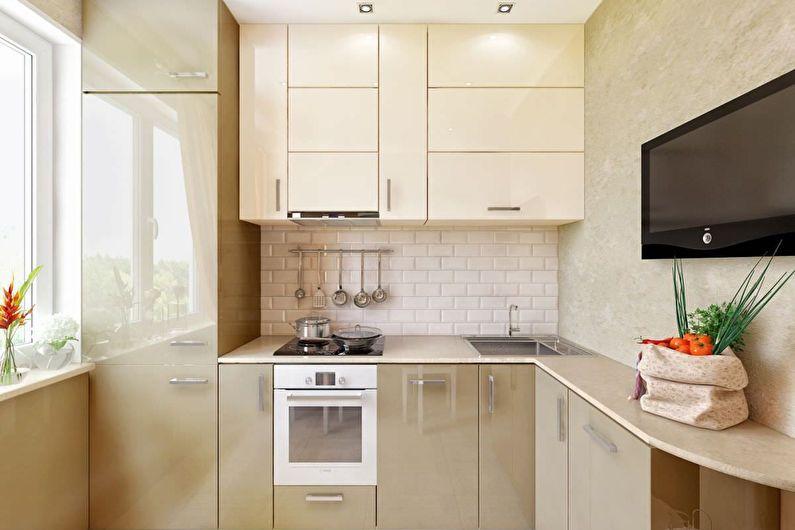 Cuisine beige 6 m2 - Design d'intérieur