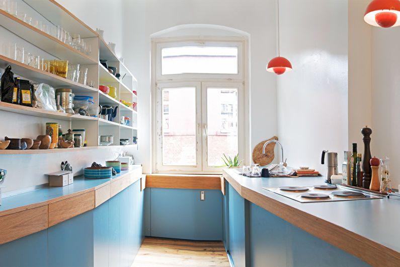 Cuisine bleue 6 m2 - Design d'intérieur