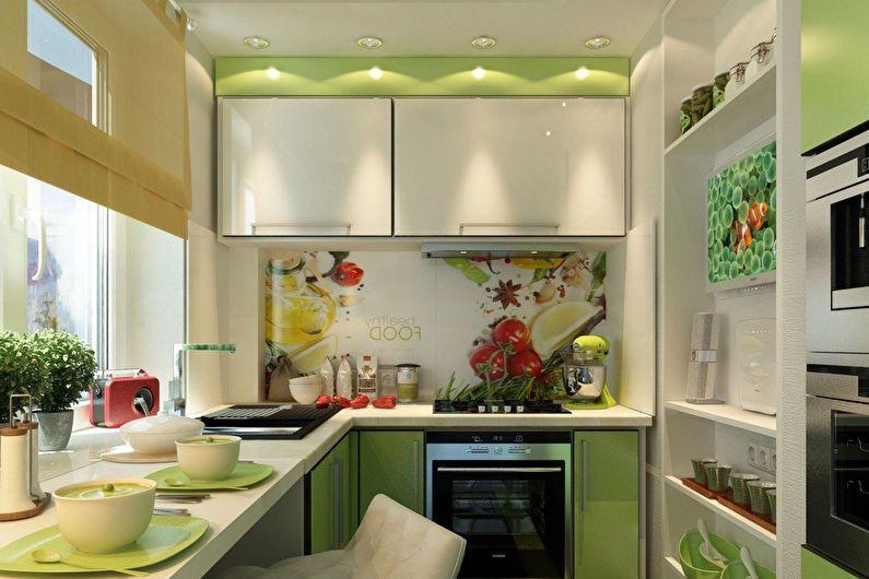 Conception de cuisine 6 m² - comment organiser les meubles