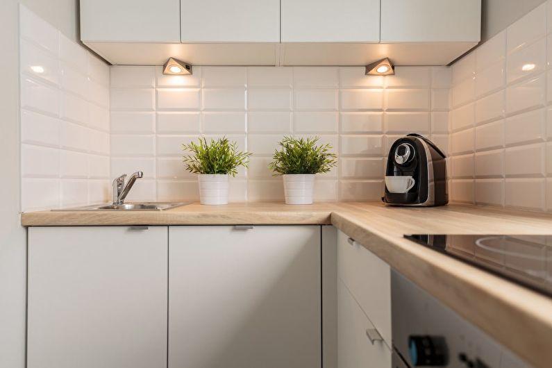 Conception de cuisine 6 m² - éclairage et rétro-éclairage
