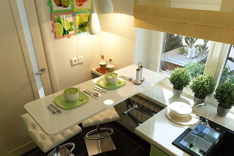 Design d'intérieur de cuisine 6 m² - photo