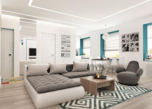 Chambre Patchwork: Appartement pour une jeune famille