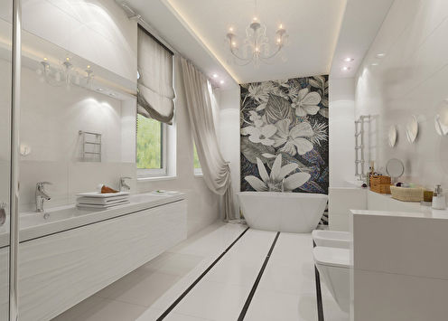 Salle de bain Fleur Blanche