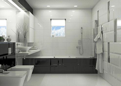 Harmonie de contraste: Salle de bain 10 m2