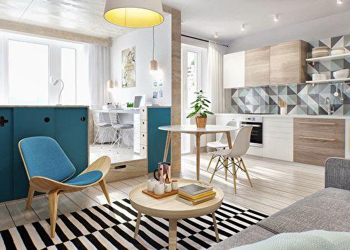 Conception d'un petit appartement (+80 photo)