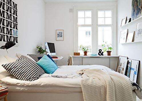 Idées d'aménagement de chambre à coucher 12 m2 (60+ photos)