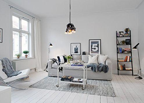 Plus de 70 idées de design de salon blanc (photo)