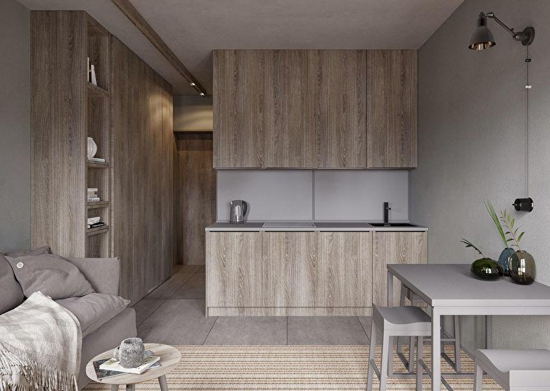 Appartement de style studio dans le style minimalisme - photo 1