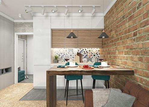 Dizajnerski projekt stana 34 m2