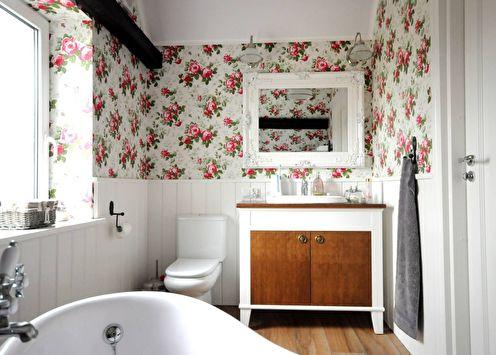 Conception d'une salle de bain de style provençal (55 photos)