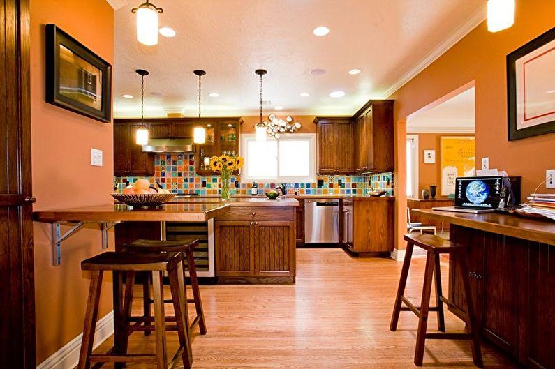 Conception de cuisine marron - Combinaisons de couleurs