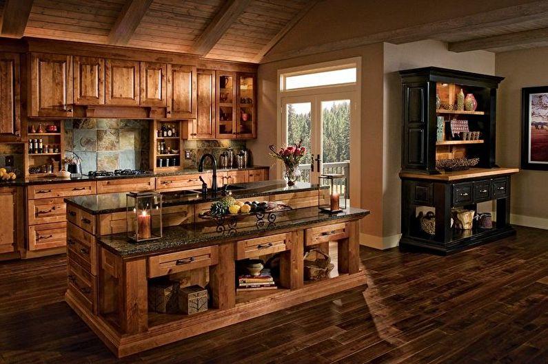 Brown Country Kitchen - Design d'intérieur