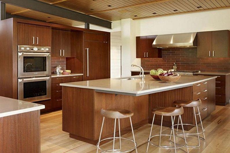 Design d'intérieur de cuisine marron - photo