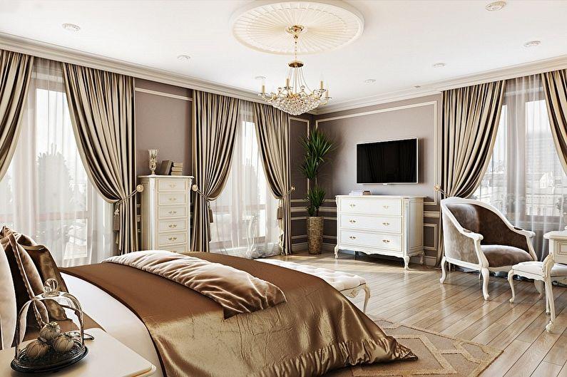 Chambre classique beige - Design d'intérieur