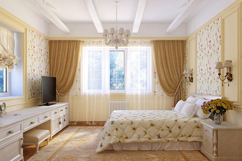 Chambre beige de style provençal - Design d'intérieur